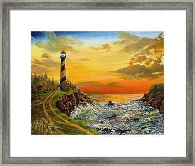 Perry's Point Framed Print by Kevin F Heuman