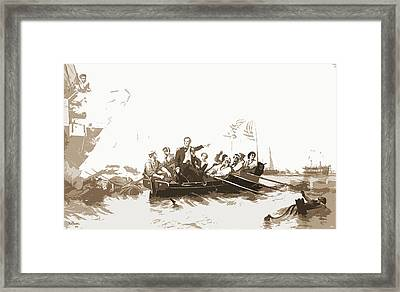 Perrys Victory, Lake Erie Framed Print