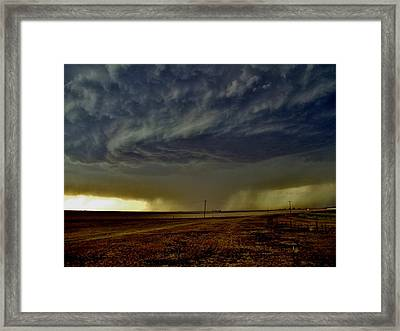 Perryton Supercell Framed Print by Ed Sweeney