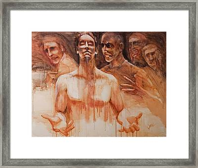 Framed Print featuring the painting Persecution by Jani Freimann