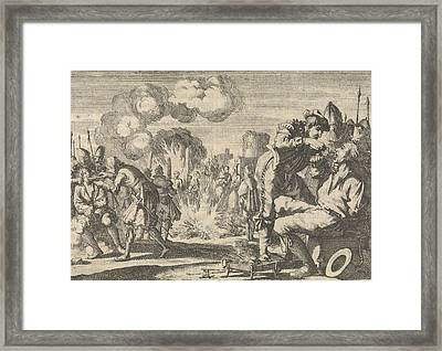 Persecution Of The Reformers In The Netherlands Framed Print