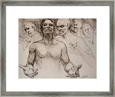 Persecution Sketch Framed Print by Jani Freimann