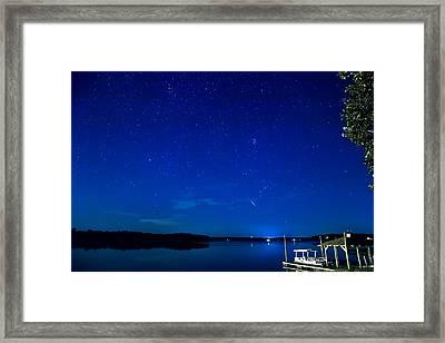 Perseid Meteor Framed Print