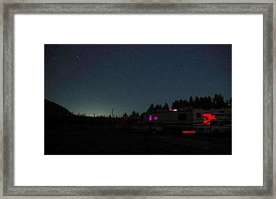 Perseid Meteor-julian Night Lights Framed Print