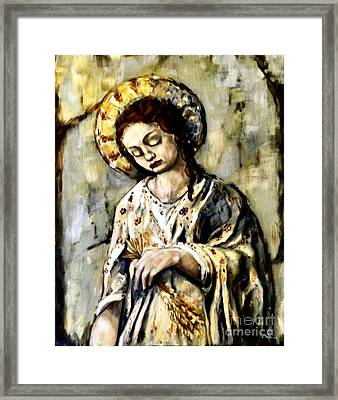 Persephone Framed Print by Carrie Joy Byrnes