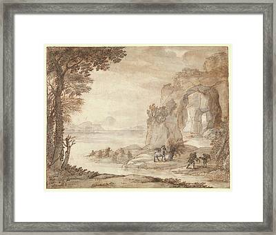 Perseus And The Origin Of Coral Framed Print by Claude Lorrain