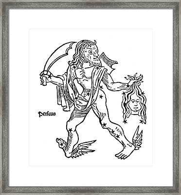 Perseus Constellation, 1482 Framed Print by U.S. Naval Observatory Library