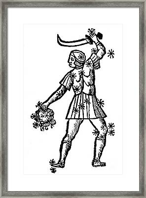 Perseus Constellation, 15th Century Framed Print by Science Source