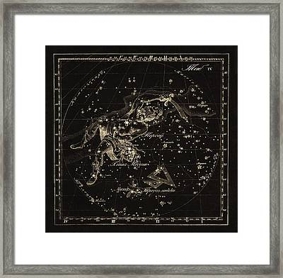 Perseus Constellations, 1829 Framed Print by Science Photo Library