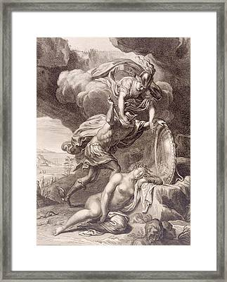 Perseus Cuts Off Medusa's Head Framed Print by Bernard Picart