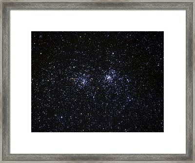 Perseus Double Cluster Ngc 869 Framed Print