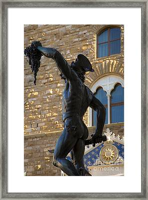 Perseus Statue - Florence Framed Print by Brian Jannsen