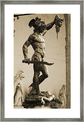 Perseus With The Head Of Medusa Framed Print