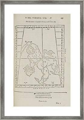Perseusstar Constellation Framed Print