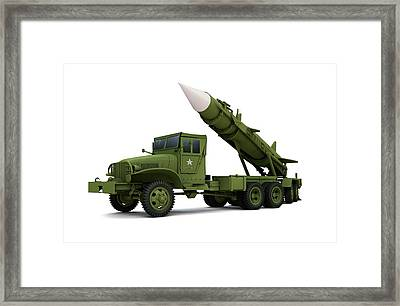 Nuclear Missile, Illustration Framed Print