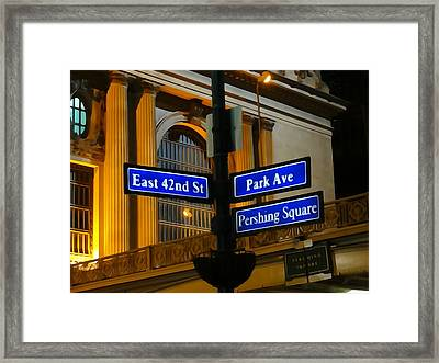 Pershing Square At Grand Central Terminal Framed Print