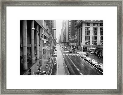 Framed Print featuring the photograph Pershing View 42nd Street Nyc by Dave Beckerman