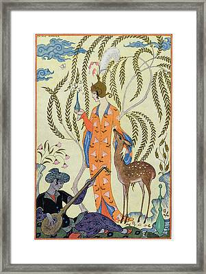 Persia Framed Print by Georges Barbier