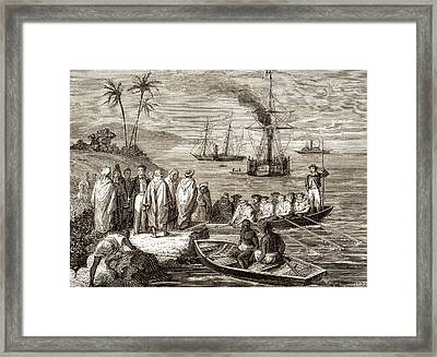 Persian Gulf Telegraph Framed Print