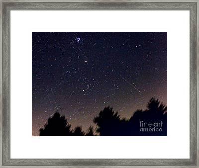 Persied Meteor 2007 Framed Print by John Chumack