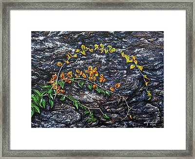 Framed Print featuring the painting Persistence by Craig T Burgwardt