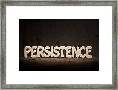 Persistence Framed Print by Donald  Erickson