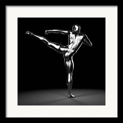 Kick Boxer Framed Prints