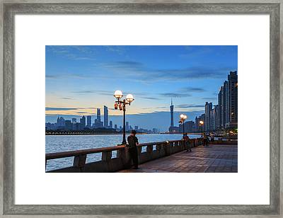 Person On Smartphone, View Along Pearl Framed Print by Stuart Westmorland