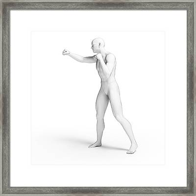 Person Punching Framed Print