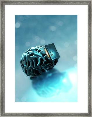 Personal Data Protection Framed Print by Victor Habbick Visions
