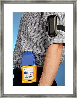 Personal Electromagnetic Field Monitor Framed Print