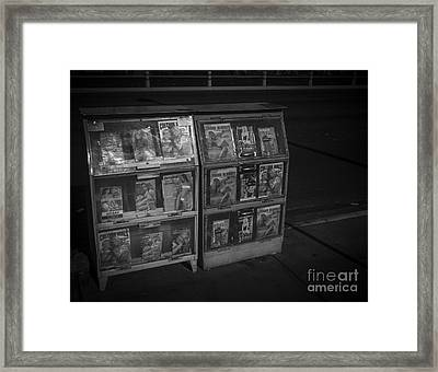 Personal Services Brochures Las Vegas 2013 Framed Print by Edward Fielding