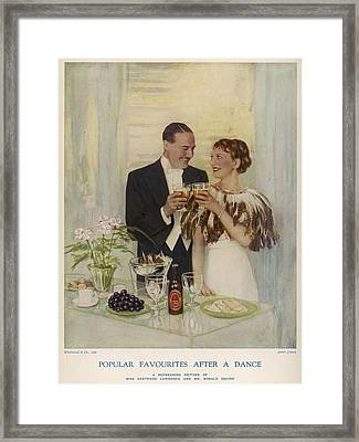 Personality Endorsement Of  Whitbread's Framed Print
