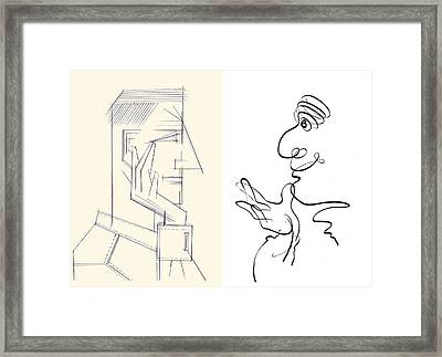 Personality Types, Caricature Artwork Framed Print