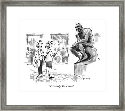 Personally, I'm A Doer Framed Print by Mike Twohy