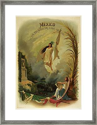Personification Of Mexico Framed Print by British Library