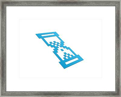 Perspective Hour Glass Framed Print by Aged Pixel