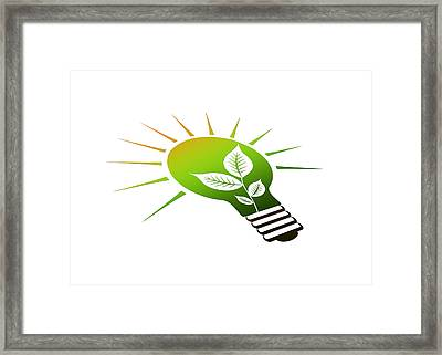 Perspective Ico Light Bulb Framed Print