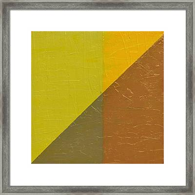 Perspective In Color Collage 10 Framed Print by Michelle Calkins