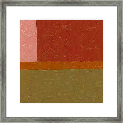 Perspective In Color Collage 12 Framed Print by Michelle Calkins