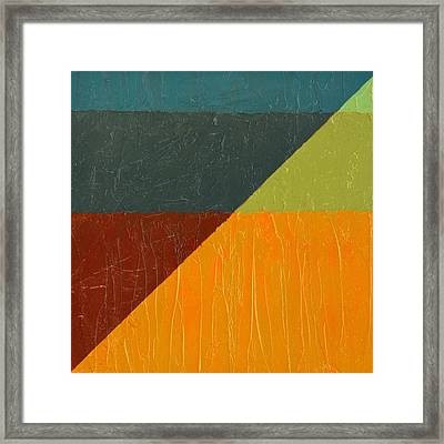 Perspective In Color Collage 4 Framed Print by Michelle Calkins