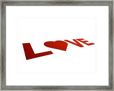 Perspective Love Sign Framed Print