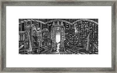 Perspective Of Opposition. Framed Print