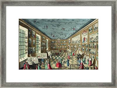 Perspective View Of The Salon Framed Print
