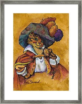 Perspicacious Puss Framed Print