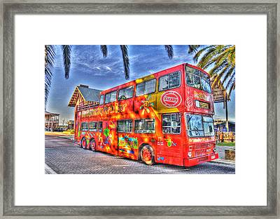 Perth Tour Bus Framed Print by Geraldine Alexander