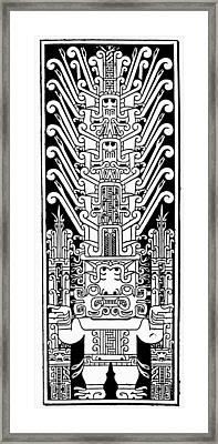 Peru Chavin Stele Framed Print
