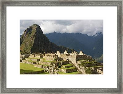 Peru, Close-up Of Machu Picchu Framed Print by Jaynes Gallery