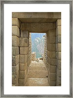 Peru, Machu Picchu, Close-up Framed Print by Jaynes Gallery
