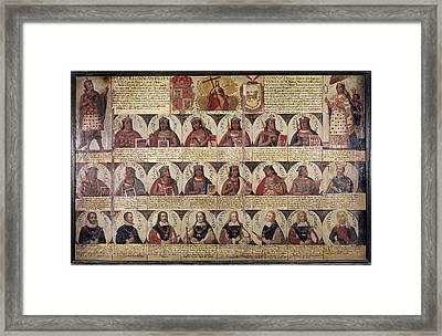 Peru Royal Chronology Framed Print